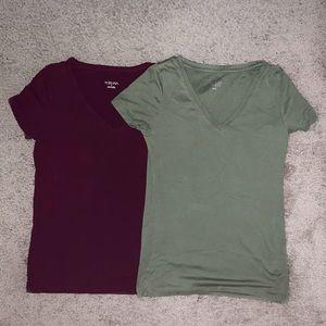 Maroon & Green Shirts
